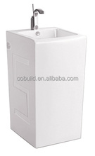 Convenient and lower price sanitary Ware Square Ceramic Freestanding Basin