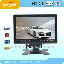 New! 7'' Car Tft Small TV Monitor With Hd Input