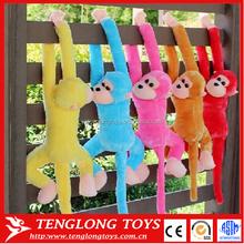 plush hanging monkey names,long arms and legs monkey plush toy, soft toy monkey
