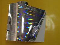 High quality Metallize Glitter PET film self adhesive label sticker paper