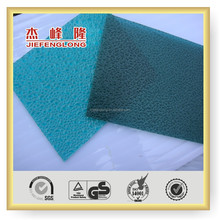 Bayer raw material colourful embossed Polycarbonate Sun Sheets