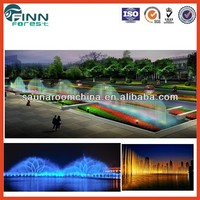 beautiful colourful landscape decoration music water fountain for garden