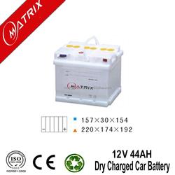 Matrix Brand dry charge car battery 12v 44ah DIN: European Standard