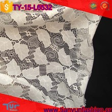 fancy design leaves stylish jacquard net type white lace fabric blouses