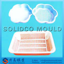 high quality household plastic food/fruit plate injection mould