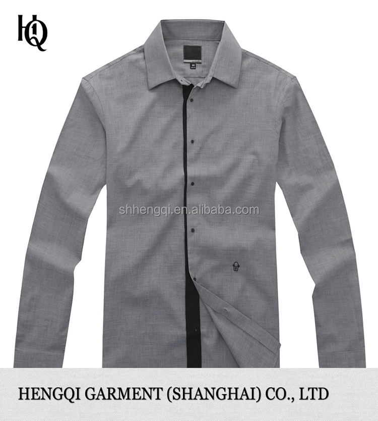 High end latest formal long sleeve shirt design for men for High end mens shirts