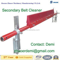 Secondary PU & Alloy Belt Clenaer with Tungsten Carbide tips which is on the PU & Alloy Blade for Conveyor Return Belt Clean