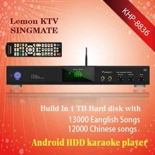 Android Lemon KTV product with HDM1080P ,Support MKV/VOB/DAT/AVI/MPG songs Support large capacity hard drive