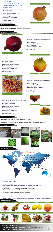 Simulation artificial pomegranate