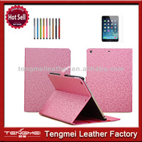 New popular luxury bling leather compendium for ipad air case