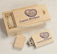 Gift Wooden Sets USB Sticks New Custom Wooden Silk Print logo usb 2.0 memory flash stick pen drive wedding gift business logo