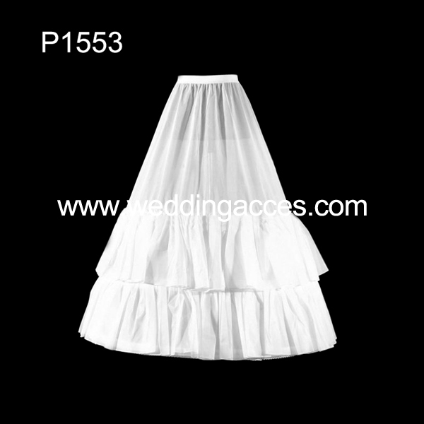 2014 Hot Sale White 3-hoop Wedding Petticoat Crinoline for Bridal