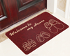Printing out door carpet with shoes design welcome to home