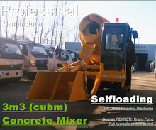3.0m3 2*4 self loading mobile diesel concrete mixer for sales