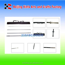 Free standing flag poles / feather flag pole for beach flag