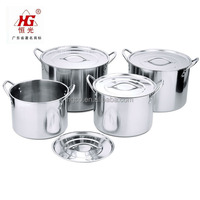 tall stainless steel stock pot with steel lid