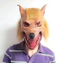 Máscara de carnaval para o homem, Máscara de lobo halloween, Máscaras de halloween látex