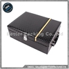 WB003B New Product Black Leather Wooden Wine Box with Accessories
