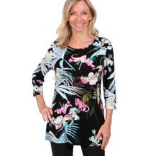 Women's flower printed long sleeves T-shirt ladies 100%linen summer shirt