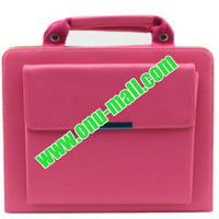 High Quality Multifunction Hand Bag Leather Case for iPad Mini (Pink)