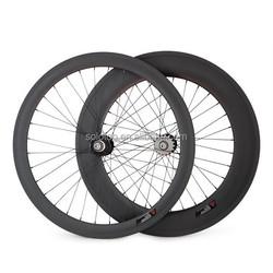carbon fixed gear bike wheels 700C 50/88mm tubular cycle wheel with novatec 165/166SBT hubs