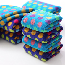EAswet Colorful Cut Pile Dots Jacquard Face Towel Soft Feeling Towel with High Quality