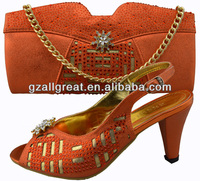 italian shoes and bags to match women/orange shoes and bags to match/ladies shoe and bag sets