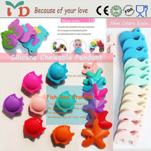 2015 New Style Wholesale Silicone Baby Teether Ocean Series