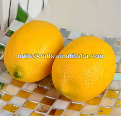Plastic Decorative Fruit Artificial Citrus Lemons