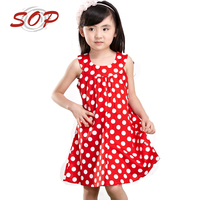 Fashion Design Small Girls Dress Girls Polka Dot Dresses For Girls of 10 Year Old