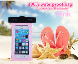 PVC 100% Sealed Plastic Pouch Underwater Phone Bag case for IPhone 6 plus