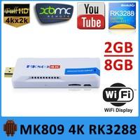 KODI installed mk809iv mini pc tv dongle stick android 4.4 rk3288 4k media player