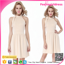 Wholesale Newest Stylish Ruffles Halter Neck Women High Fashion Dresses