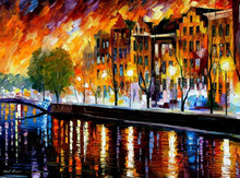 modern art Painted pictures with a knife canvas oil painting model 44771