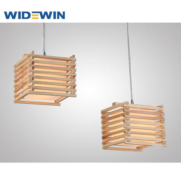 Creative dise o cuadrado de techo de la l mpara de madera - Lamparas colgantes de madera ...