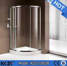 2015 high quality silver finish nano glass shower room