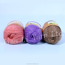 Wool Acrylic And Polyester Yarn For Hand Knitting