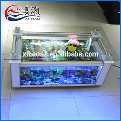 Manufacturer Multifunction Rectangle Coffee Table Fish Tank For Sale