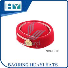 China fábrica de chapéus boinas vermelhas da aeromoça