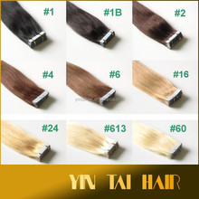 Top quality double sided tape hair extensions straight tape hair 100% kanekalon 20 inch