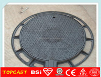 asphalt painted BS EN124 standard ductile iron manhole cover/cast iron manhole cover size