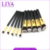 professional supplier beauty accessory synthetic hair 10pcs makeup brush set