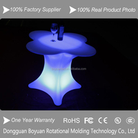 outdoor waterproof led luminous high top cocktail tables for night club/bar led table/ flower-shap coffee table outdoor