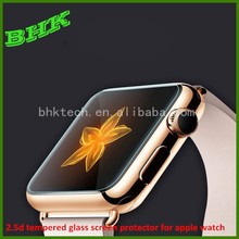 delicate touch liquid crystal 2.5d tempered glass screen protector for apple watch 38mm 42mm,9h hardness anti-fingerprint