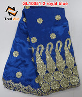 indian silk george george clothing African style of GL10051-2 in royal blue