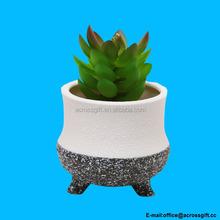 Small Ceramic Succulent Planter Flower Pot / Desktop Organizer Pen Holder