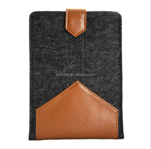 """Boshiho Newest Design luxury leather&woolfelt sleeve case for iPad air 2 case ,for Apple 9.7"""" inch tablet"""