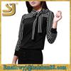 wholesale blouse fashion ladies cotton spandex shirts pleats blouse