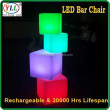 top quality led chair furniture led ice cube decorative led cube chair decorative led cube chair