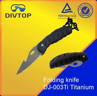 Folding Titanium Dive Knife For Divers High Quality